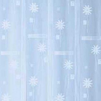 Hordeur horgordijn DHZ lichtblauw met bloem