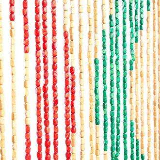 Vliegengordijn houten kralen: Waves