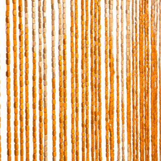 Vliegengordijn houten kralen Diamanten 90x200