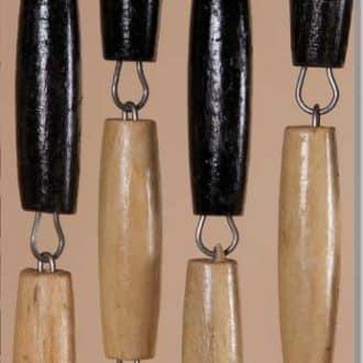 Vliegengordijn houten kralen: zwart-blank