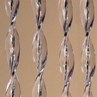 DEGOR Vliegengordijn Artikel 64: transparant/zwart
