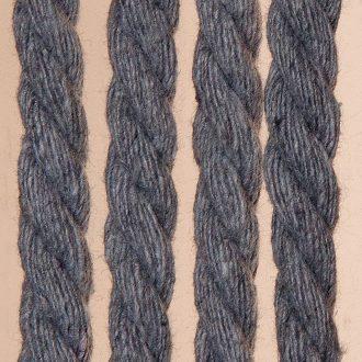 Vliegengordijn Cotton Rope grijs 100x220